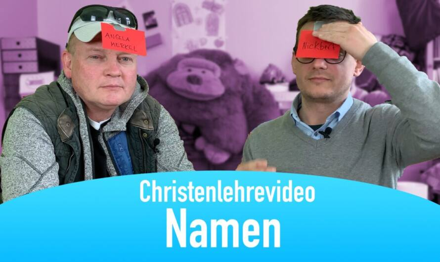 "Christenlehrevideo ""Namen"""